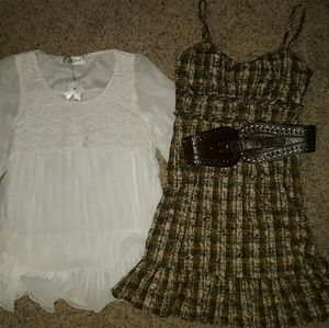 Dresses & Skirts - 2 country girl dresses with 2 belts and jewelry